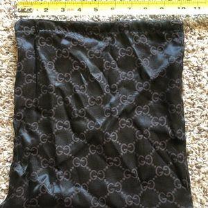 Gucci Dust Bag Drawstring Brown 11x10